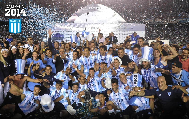 Racing – Godoy Cruz   1-0 – Racing Campeon!!
