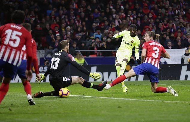 Atletico Madrid – Barcellona   1-1   Il sopportato Dembelé