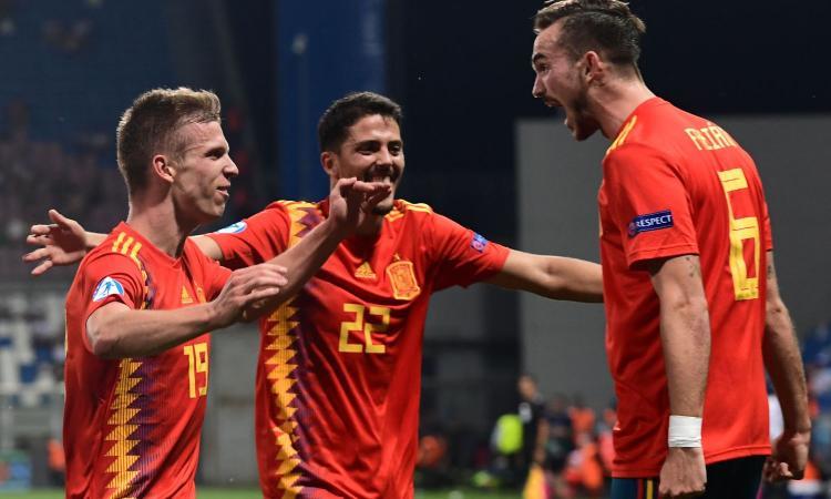 Spagna U21 – Francia U21   4-1   Spettacolo Rojo, Francia arrendevole