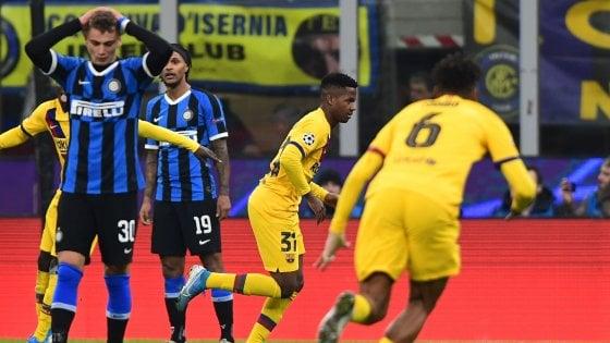 Inter – Barcellona   1-2   L'Inter spreca e viene punita dai giovani blaugrana